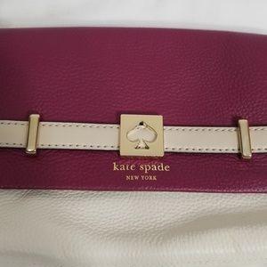 kate spade Bags - NWT Kate Spade Houston Street Red Plum Loula Bag